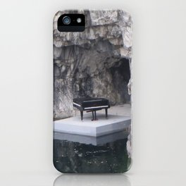 Piano in marble canyon (Ruskeala mining park) iPhone Case