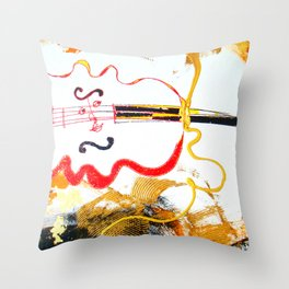 Immersed in Bach Partitas    by Kay Lipton Throw Pillow