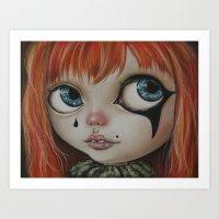 circus Art Prints featuring Circus  by Bella Harris