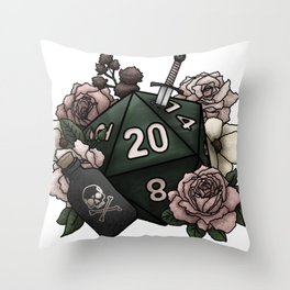 Rogue Class D20 - Tabletop Gaming Dice Throw Pillow