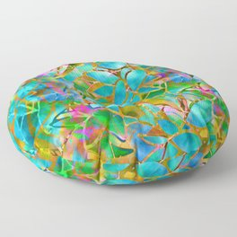 Floral Abstract Stained Glass G265 Floor Pillow