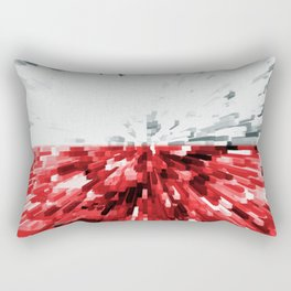 Extruded flag of Poland Rectangular Pillow