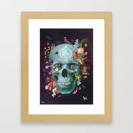 CREATION Skull Framed Art Print