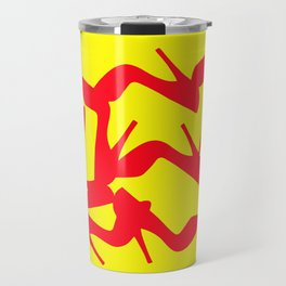 Shoe Fetish (Version 2) in Red and Yellow by Bruce Gray Travel Mug