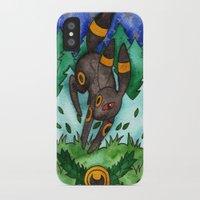 umbreon iPhone & iPod Cases featuring Eeveevolution Series - Umbreon by Jazmine Phillips