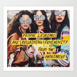Reclaiming Femininity Art Print