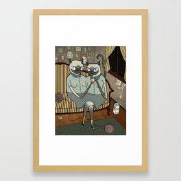 Siamese Siamese Framed Art Print