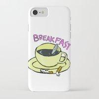 breakfast iPhone & iPod Cases featuring BREAKFAST by Gianluca Floris