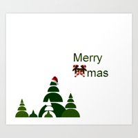 xmas Art Prints featuring Xmas by Anne Seltmann