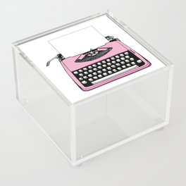 Vintage Pink Typewriter (Write Your Own Message) Acrylic Box