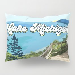 Lake Michigan Retro Pillow Sham
