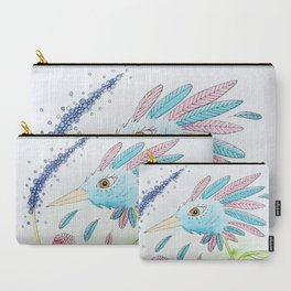 Flower-bird Carry-All Pouch