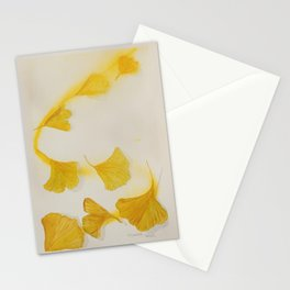 Ginkgo Fall Sun Stationery Cards