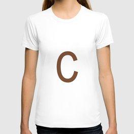 LETTER C (BROWN-WHITE) T-shirt