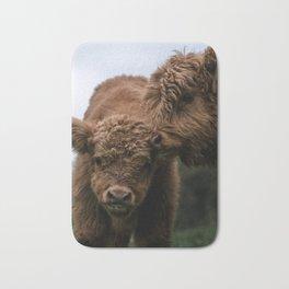 Scottish Highland Cattle Calves - Babies playing Bath Mat