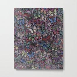 midnight fantasy butterflies aflutter Metal Print