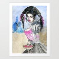 carmilla Art Prints featuring Carmilla by ArtOfJamesAdams
