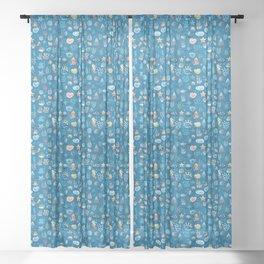 playful sea life Sheer Curtain