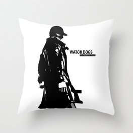 Watch dogs (aiden pearce) Throw Pillow