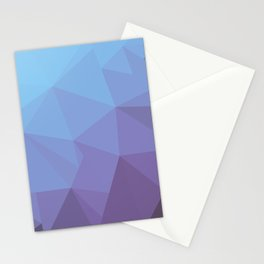 Blue and Purple Geometric Triangle All Over Gradient Pattern Stationery Cards