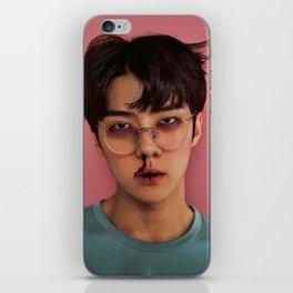 Busted Sehun iPhone Skin