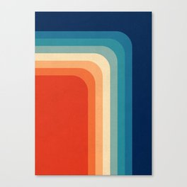 Retro 70s Color Palette III Canvas Print