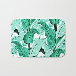 jungle leaf pattern mint Bath Mat