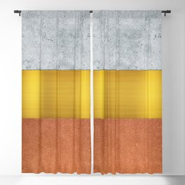 Concrete Gold and Terracotta Blackout Curtain