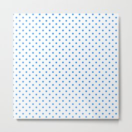 Dots (Azure/White) Metal Print