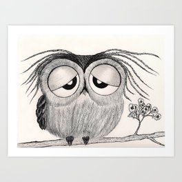 Its Been A Long Day Mr. Owl Art Print