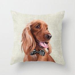 Mr. English Cocker Spaniel Throw Pillow