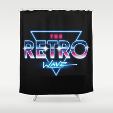 The Retro Wave Shower Curtain