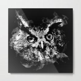 owl perfect black white Metal Print