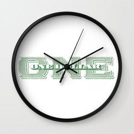 Retro 1928 Dollar Wall Clock