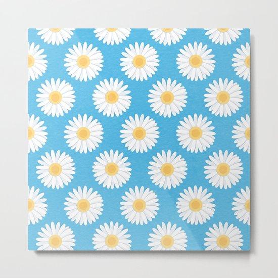 Spring Daisies_Blue Sky Metal Print
