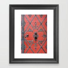 Red Door - Prague, Czech Republic Framed Art Print