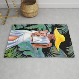 """""""Woman in Coral"""" Rug"""