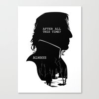 snape Canvas Prints featuring Snape - Quote Silhouette by GTRichardson