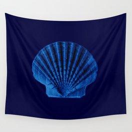 Malibu Blu Mood -Shell Wall Tapestry