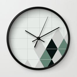 ice teal Wall Clock