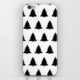 Chistmas Tree Black and White Seamless Pattern iPhone Skin