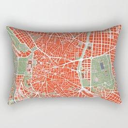 Madrid city map classic Rectangular Pillow