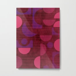 Pink and Purple Moons Metal Print