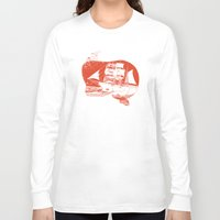 moby dick Long Sleeve T-shirts featuring Moby Dick by Paul McCreery