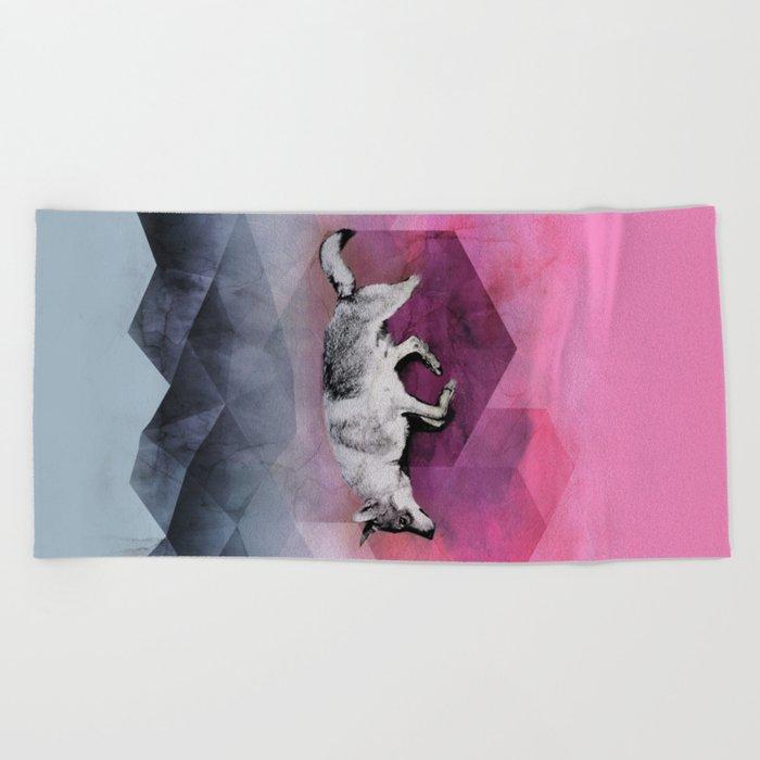 The Wolf Geometry Beach Towel