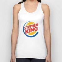 stephen king Tank Tops featuring Stephen King by Alejo Malia