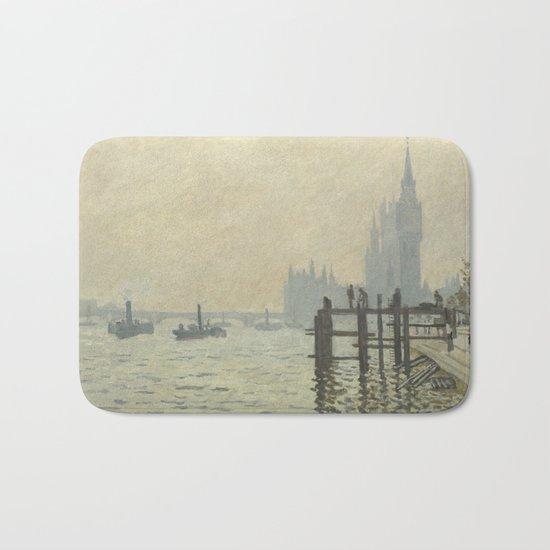 The Thames below Westminster by Claude Monet Bath Mat