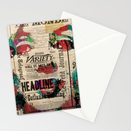 sepia Mrs. Monroe Hollywood POP ART CELEBRITY Stationery Cards