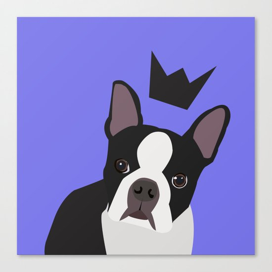 Royal Boston Terrier Canvas Print