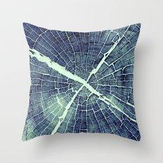 Abstract Bark Throw Pillow